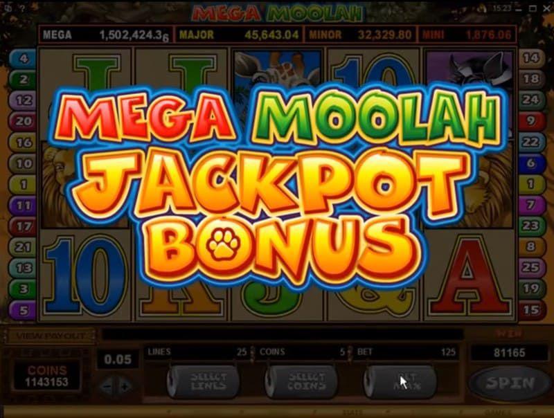 mega moolah jackpot bonus bodog