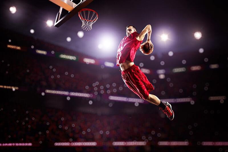 NBA basquete cesta