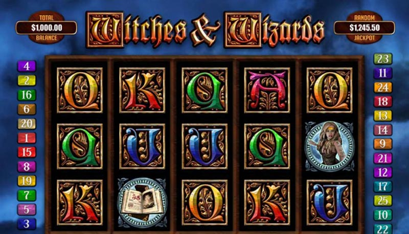 witches wizards slot halloween