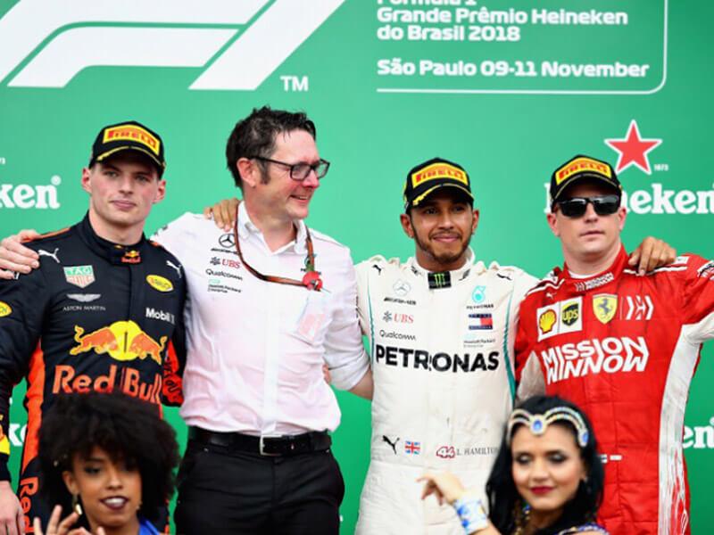 podio GP Brasil 2018 Formula 1