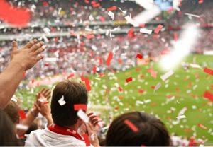 festejo estadio copa libertadores