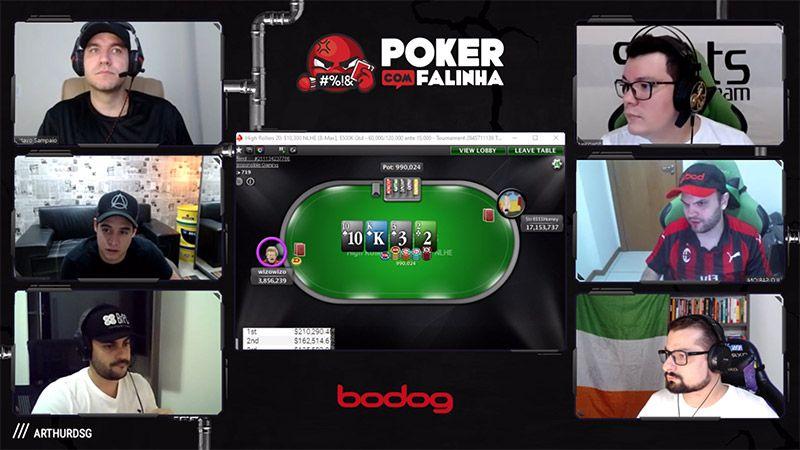 Jogadores Poker com Falinha Twitch