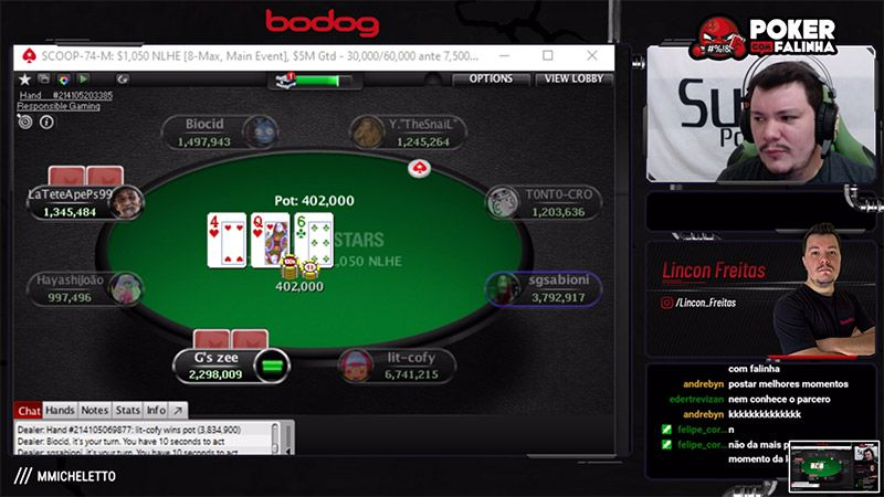 Lincon Poker Falinha Twitch