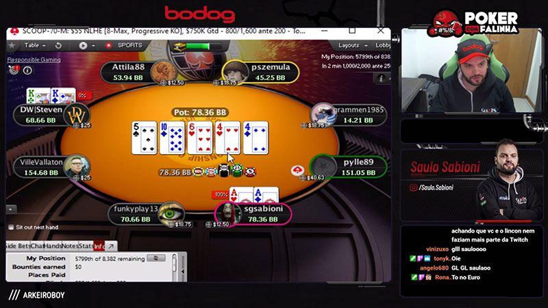 Poker com falinha Saulo Sabioni Jogo