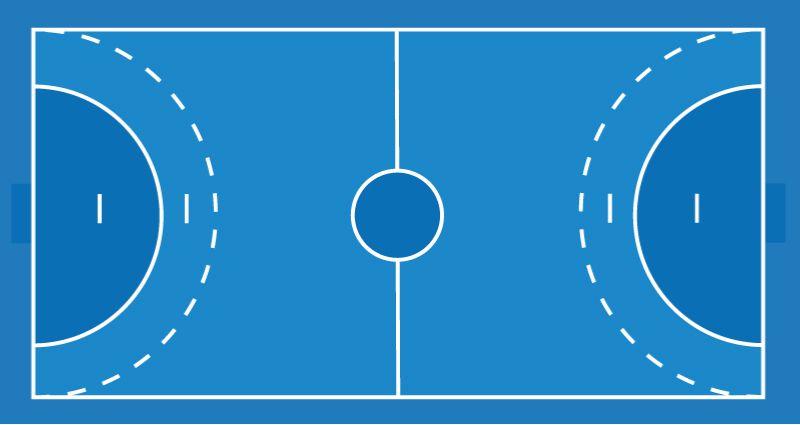 cancha handball diagrama