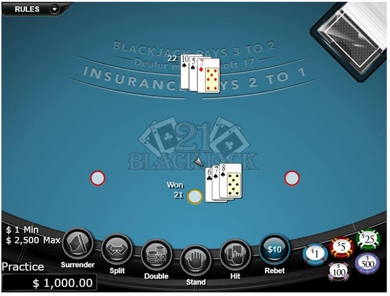 ganhar no blackjack bodog