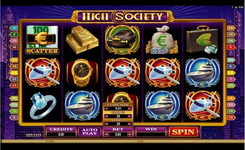 high society slot bodog