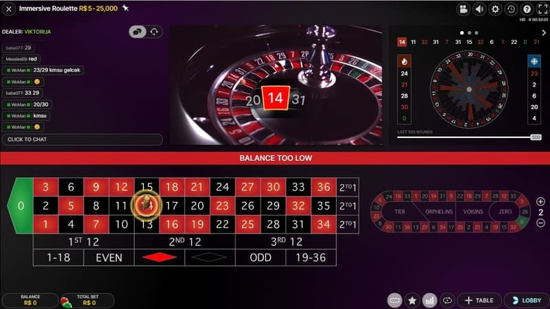 immersive roulette painel bodog
