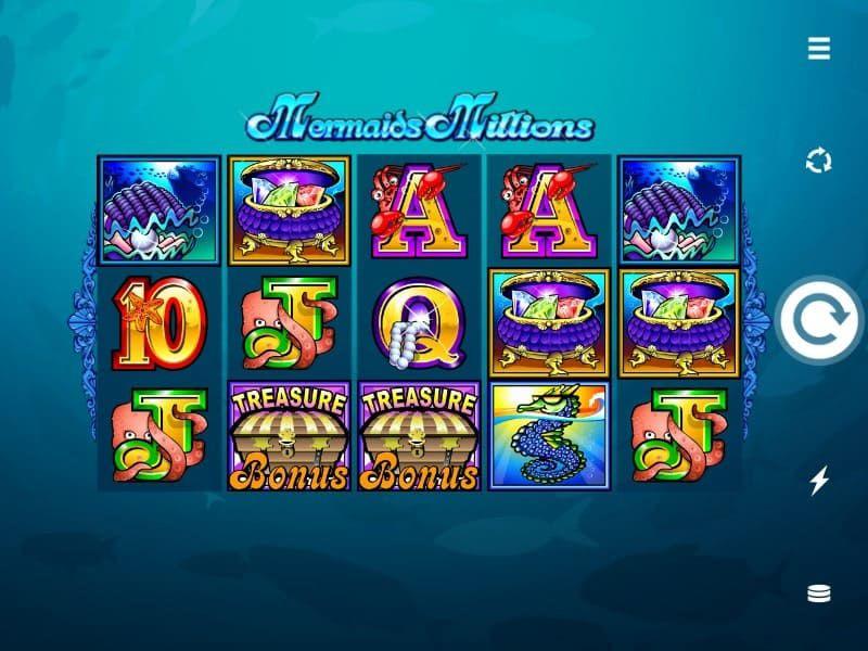 mermaids millions simbolos bodog