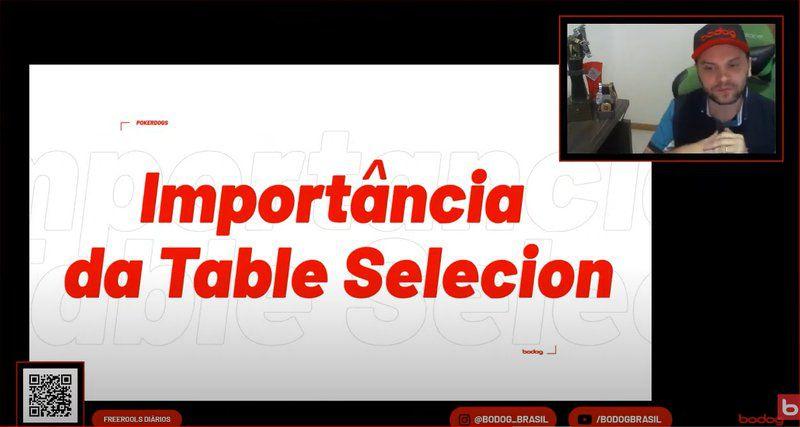 table selecion bodog
