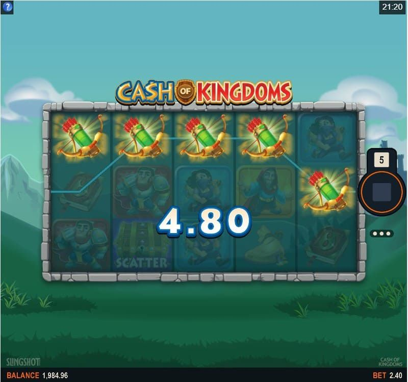 cash kingdoms arcos flechas bodog