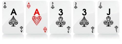 dois pares mãos de poker