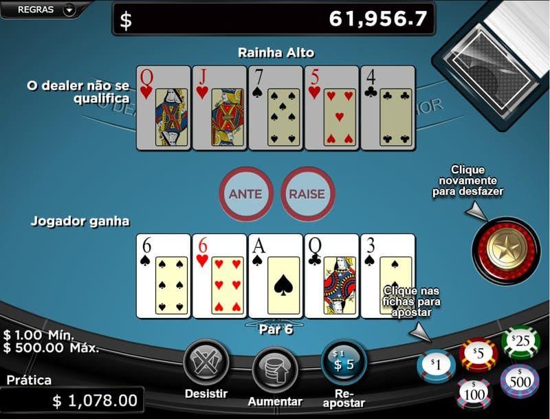 jogador ganha caribbean poker