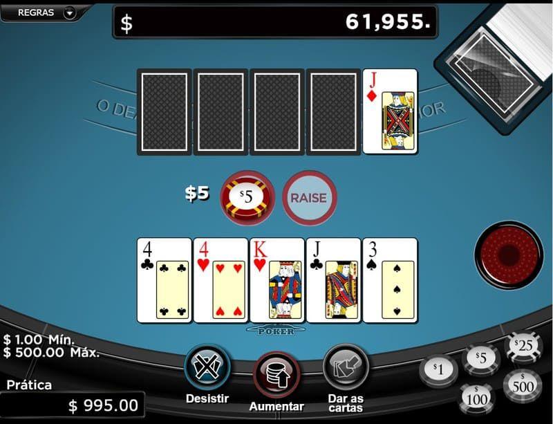 jogar caribbean poker online