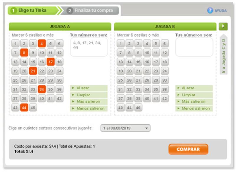 lotería online en Perú