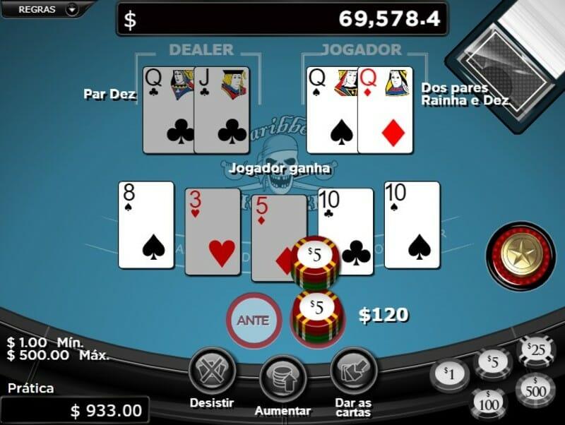 jogador ganha poker