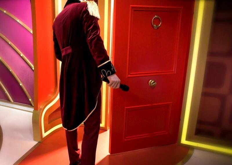 porta vermelha crazy time