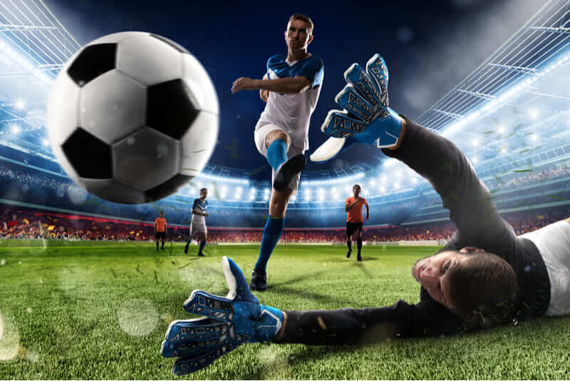 jogador marca gol