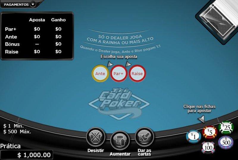 jogar tri card poker