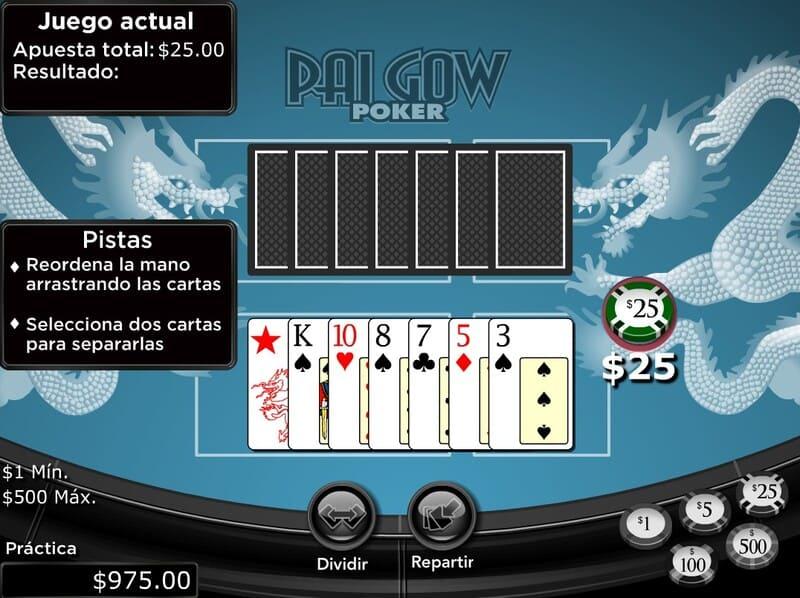jugar pai gow poker