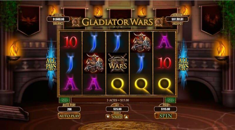 ganhar gladiator wars