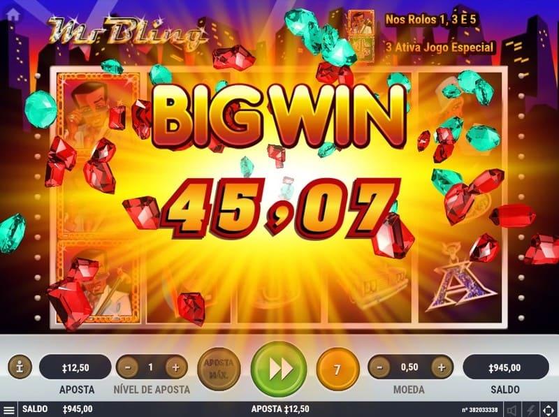 mr bling jogo ganador