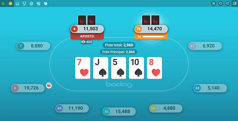 Jogar o poker de 3 cartas