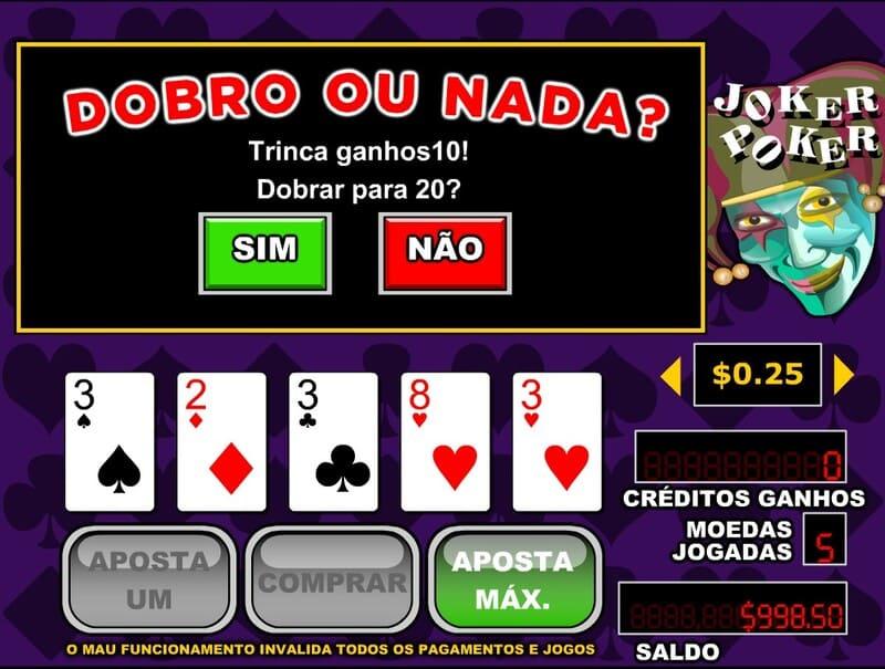 dobrou o nada joker poker