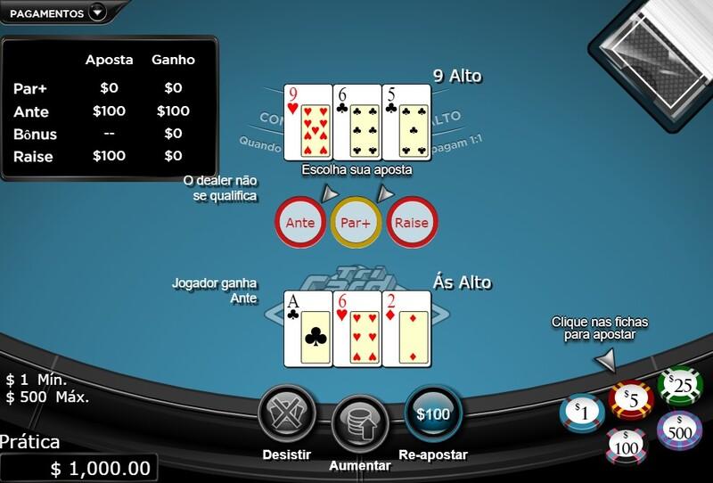 ganhar classic tri card poker 1