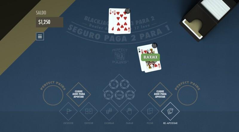 jogar blackjack perfect pairs