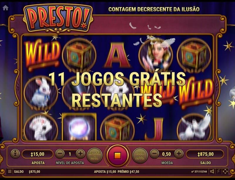 presto slot jogos gratis