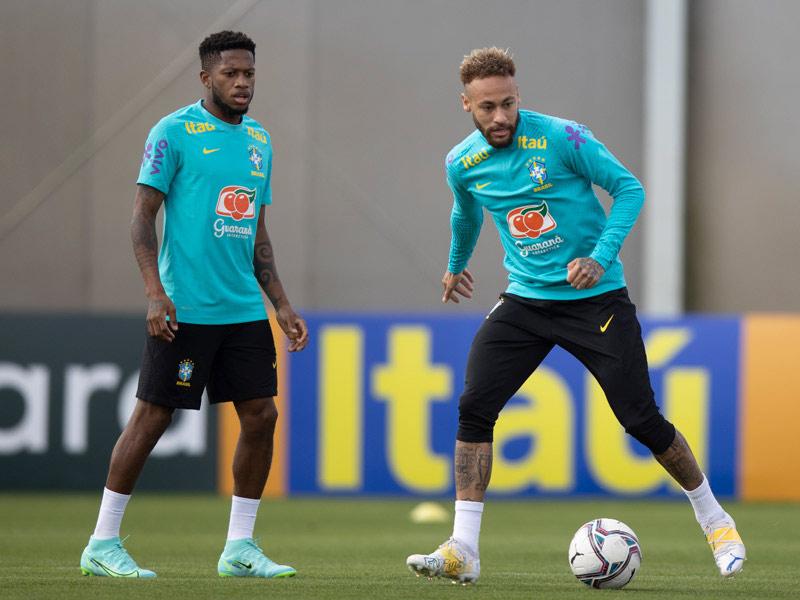 treinamento neymar brasil