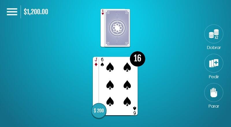 16 contra 19 blackjack