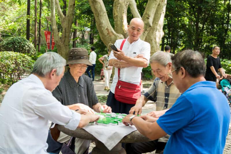 jugadores mahjong