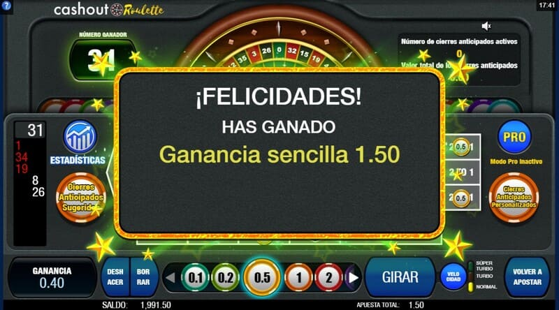 ganar cashout roulette