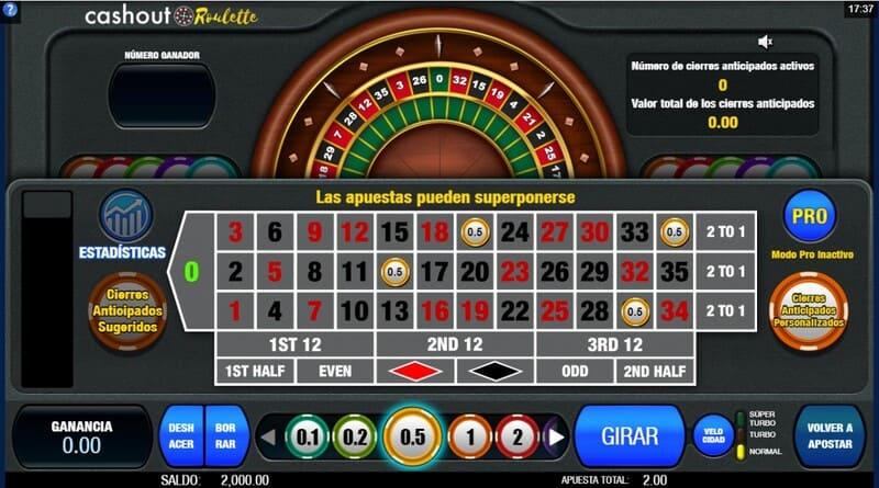 jugar cashout roulette